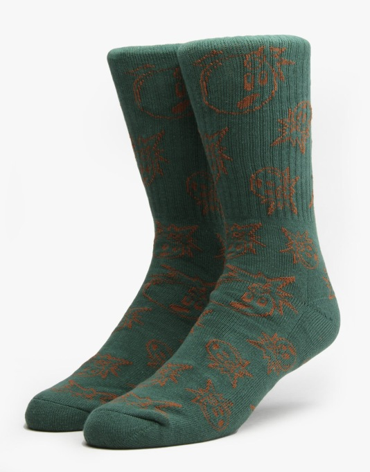The Hundreds Outtie Socks - Dark Green