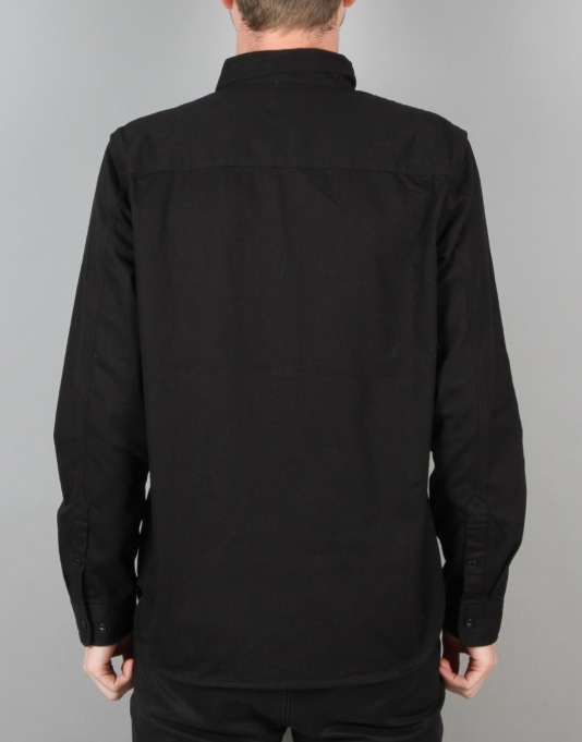 HUF HBT Work Shirt - Black
