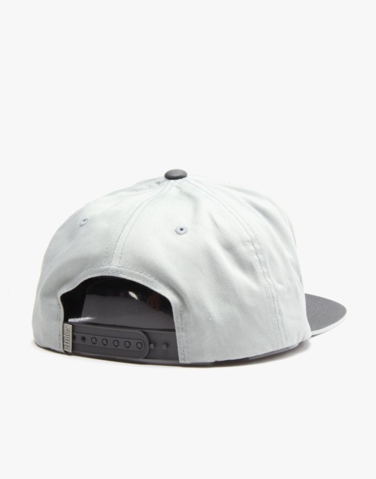 Etnies Corporate 5 Snapback Cap - Grey/Light Grey