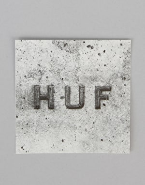 HUF Concrete Box Logo Sticker - Grey