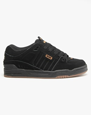 Globe Fusion Skate Shoes - Black/Black/Brown