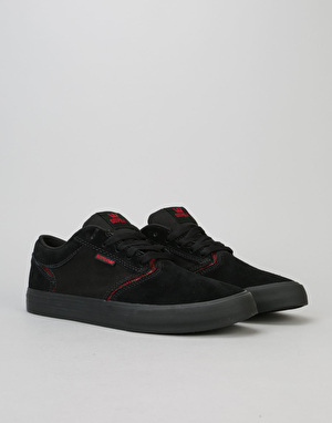Supra Shredder Skate Shoes - Black/Red/Black