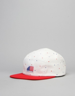 Diamond Supply Co. USA 5 Panel Cap - Red