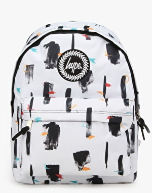 Hype Brush Strokes Backpack - White/Black
