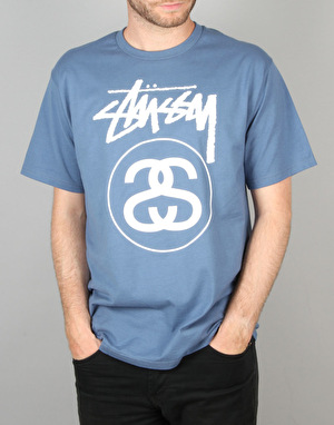 Stüssy Stock Link T-Shirt – Steel