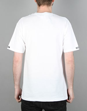 Crooks & Castles Medusa Speckle Tiger T-Shirt - White
