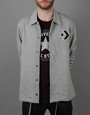Converse Collegiate Coach Jacket - Vintage Grey Heather