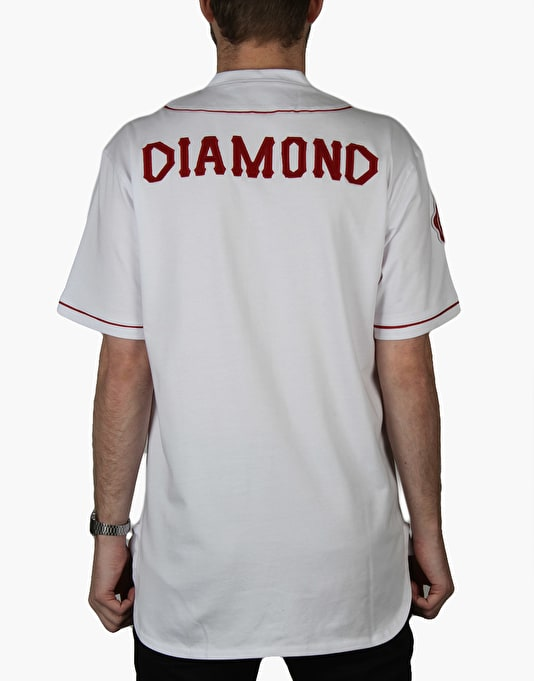 Diamond Supply Co. Dugout Baseball Jersey - White