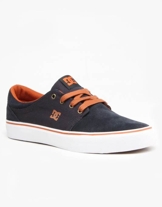 DC Trase SD Skate Shoes - Blue/White/Brown