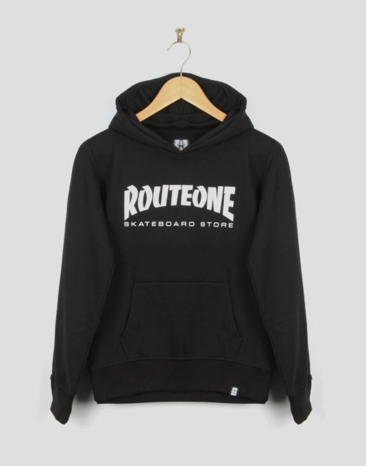 Route One Skate Store Boys Pullover Hoodie - Black
