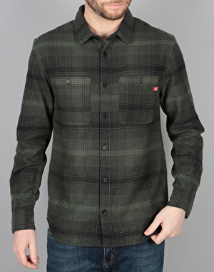 DC Venetian Hombre Flannel L/S Shirt - Forest Night