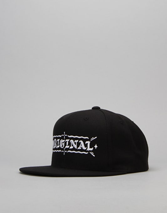 Kr3w Original Snapback Cap - Black/White