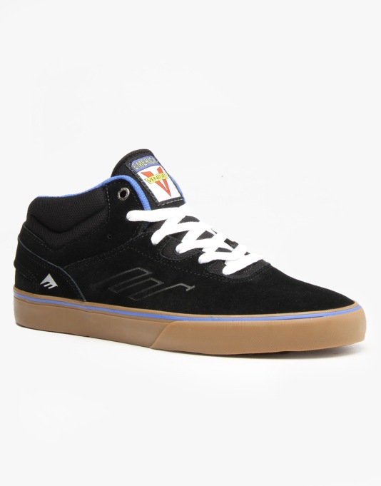 Emerica x Venture The Westgate Mid Vulc Skate Shoes - Black/Blue