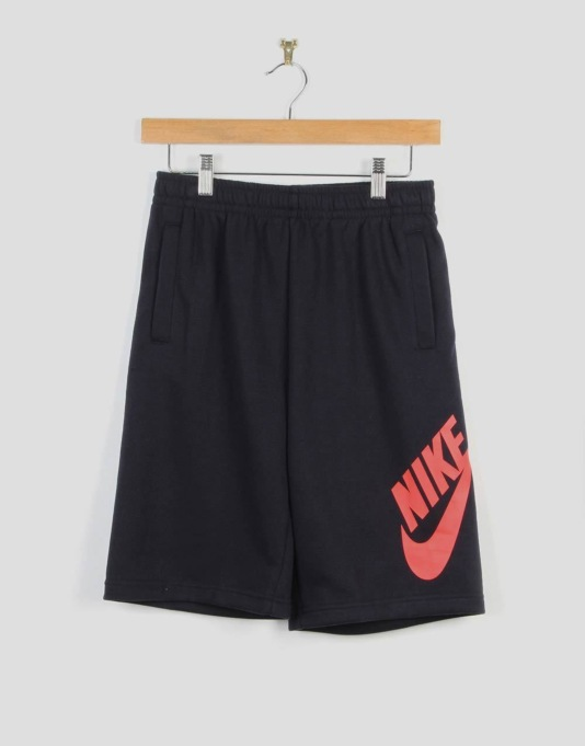 Nike SB French Terry Logo Boys Shorts - Dark Obsidian
