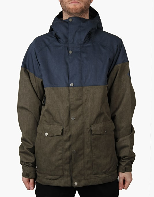 Bonfire Tanner Ltd 2016 Snowboard Jacket - Midnight/Bunker