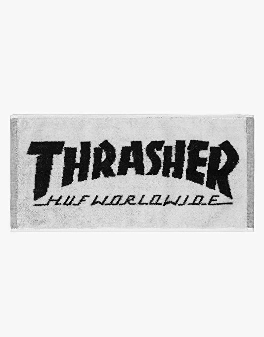 HUF x Thrasher Bar Towel - White