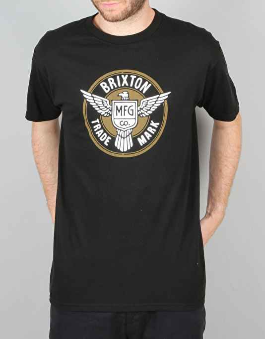 9357df5a7 Brixton Whitman S S T-Shirt - Black