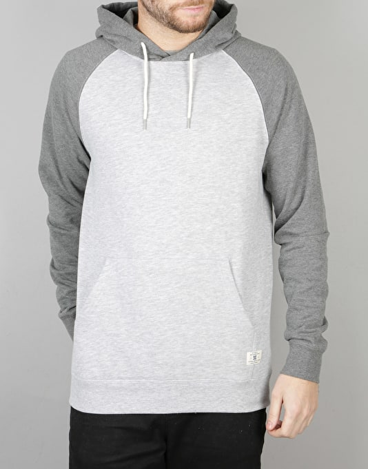 DC Rebel Raglan PH Pullover Hoodie - Heather Grey/Heather Charcoal