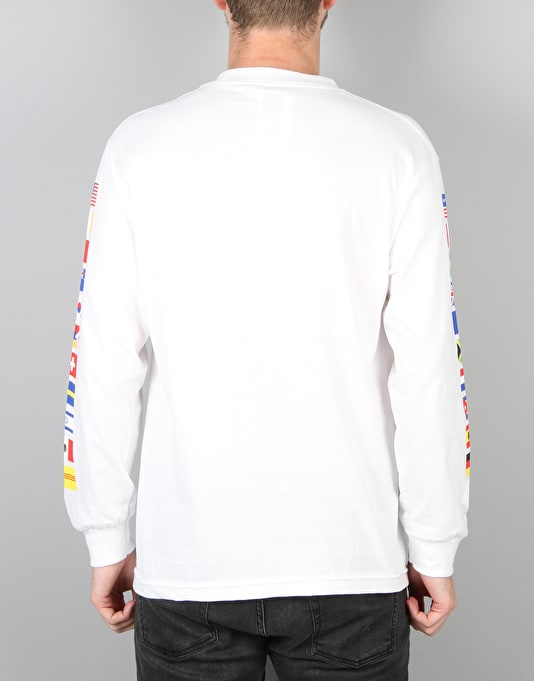 HUF Flag L/S T-Shirt - White
