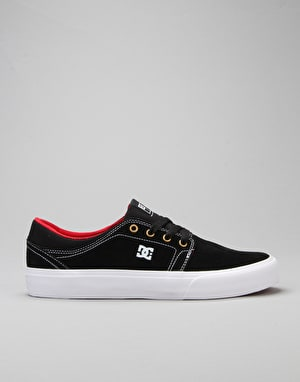 DC Trase S Skate Shoes - Black /White/True Red