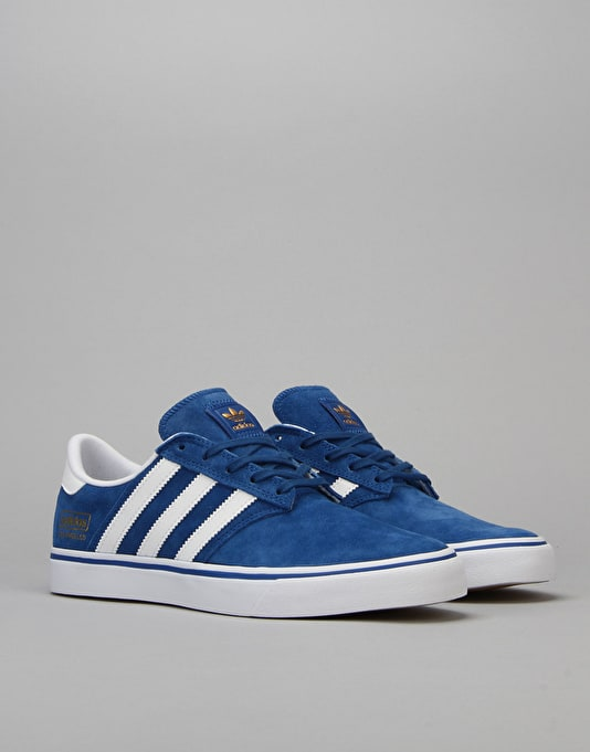 Adidas Seeley II (Premiere) Skate Shoes - EQT Blue/White/Gold Met.