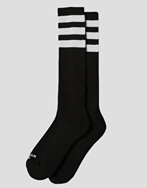 American Socks Back In Black Knee High Socks - Black/White
