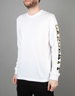 Carhartt College Left L/S T-Shirt - White/Camo Duck