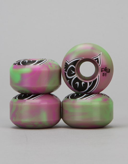 Pig Head Swirl Team Wheel - 51mm