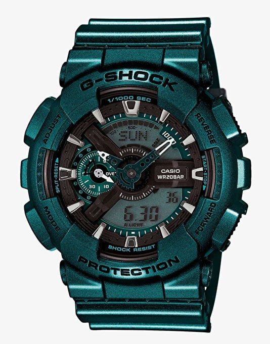 G-Shock GA-110NM-3A Watch - Neo Metallic Turquoise
