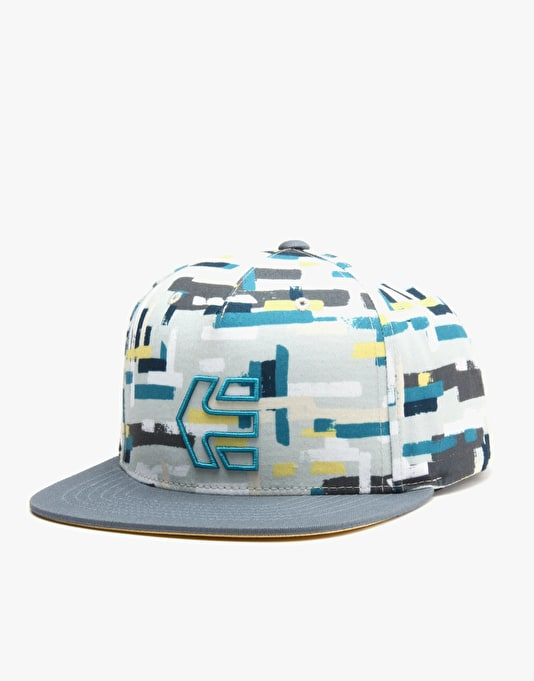 Etnies Rook Snapback Cap - White/Light Grey