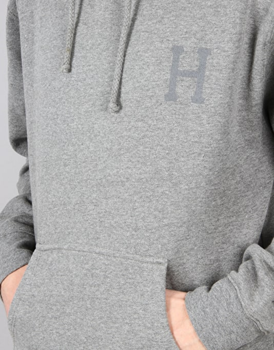 HUF Classic H Pullover Hoodie - Grey Heather