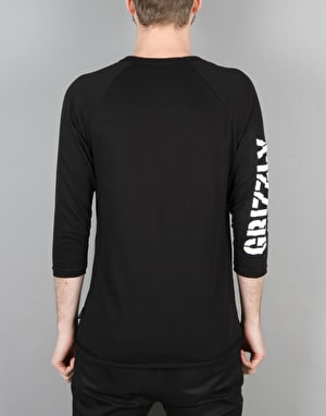 Grizzly Tie Dye G Raglan T-Shirt - Black
