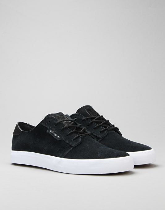 Adidas Seeley Essential Skate Shoes - Core Black/Core Black/FTWR White