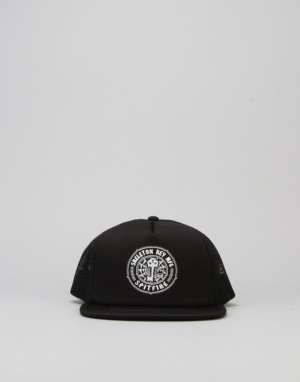 Spitfire x Skeleton Key Foam Mesh Truck Cap - Black
