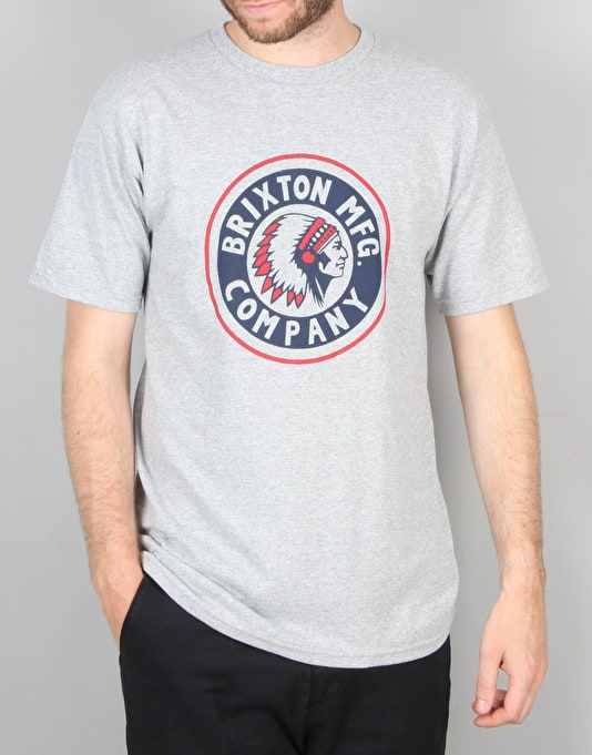 Brixton Rival S/S T-Shirt - Heather Grey
