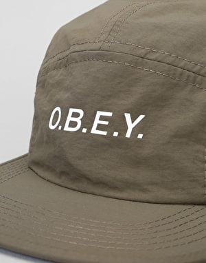 Obey Contorted 5 Panel Cap - Army Green