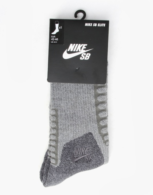 Nike SB Elite SB Skate 2.0 Crew Socks - D. Grey/Anthracite/Anthracite