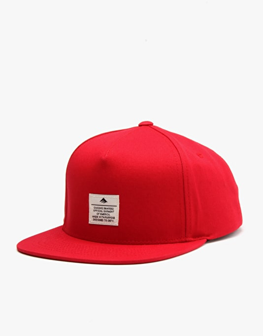 Emerica Standard Issue Snapback Cap - Red
