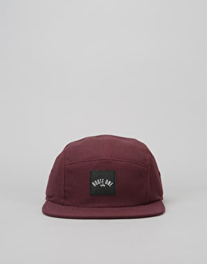 Route One Box Logo 5 Panel Cap - Burgundy
