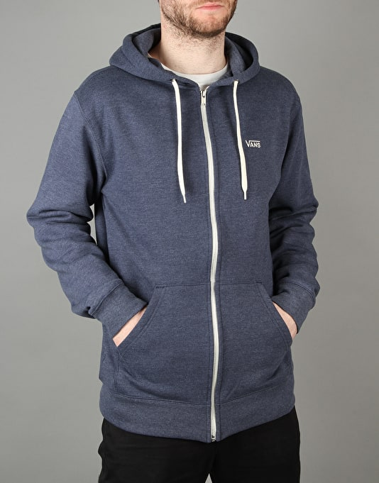 Vans Core Basics Zip Hoodie - Dress Blues Heather