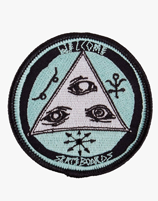 "Welcome Talisman 3"" Embroidered Patch - Black/White/Coral"
