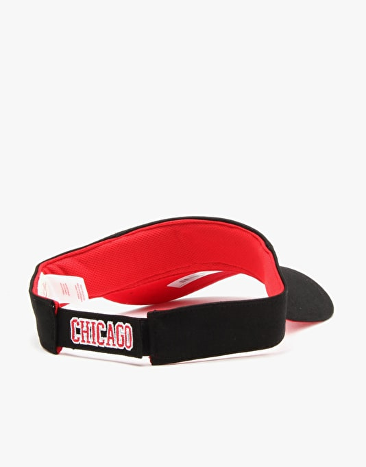Mitchell & Ness NBA Chicago Bulls Summer Visor Cap - Black
