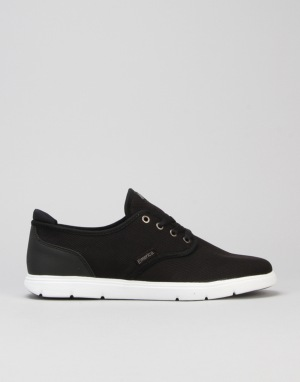 Emerica Wino Cruiser LT Skate Shoes - Black/White/Black