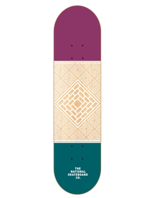 The National Skateboard Co. Division Team Deck - 7.875""