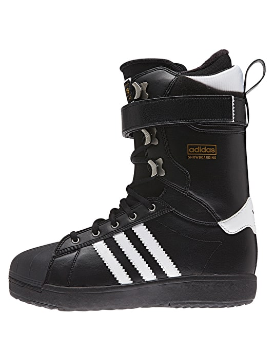Adidas Superstar 2016 Snowboard Boots - Black/White/Gold Met.