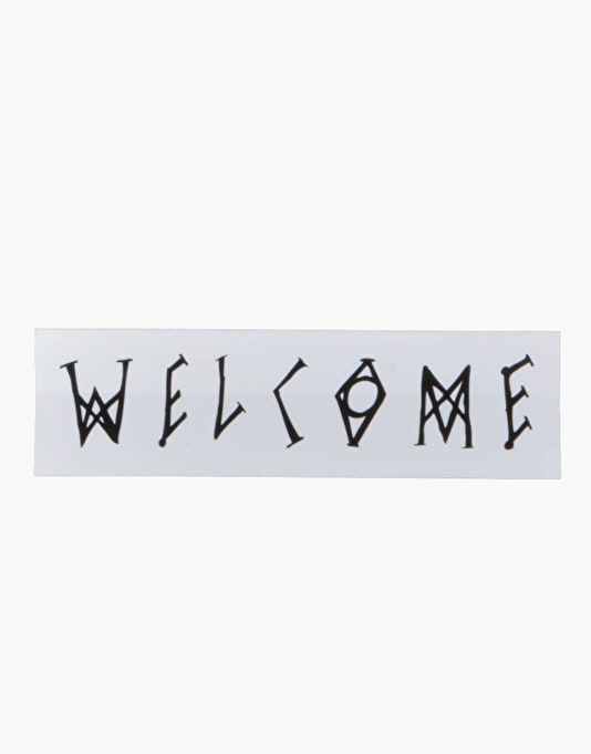 "Welcome Scrawl 5"" Sticker"