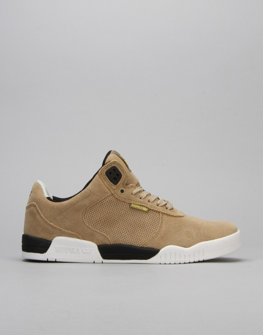 Supra Ellington Skate Shoes - Khaki/Black/White