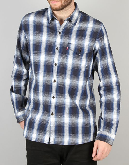 Levi's Skateboarding Reform L/S Shirt - Calamint True Blue Plaid