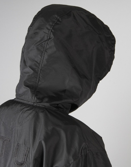Stüssy Long Hooded Coach Jacket - Black