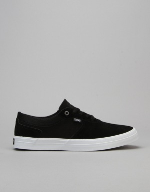 DVS Merced Skate Shoes - Black/White Suede
